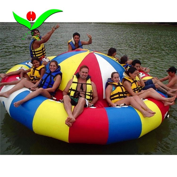 lake sailing inflatable disco boat water game