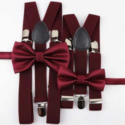 Nice Suspenders Bowtie Sets Mens Women Boys Girls Baby Kids Party Wedding Y-Back Shirt Braces Butterfly Belt Bow Tie