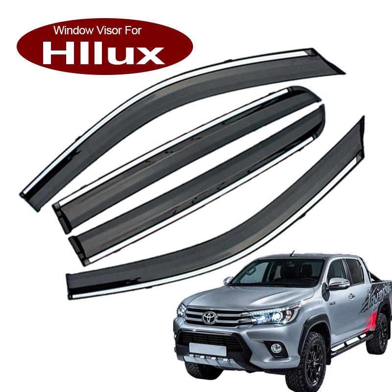 Bonnet Protector Weathershields For Toyota Hilux Revo 2015-2019 Visors