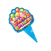 Paper Birthday Cake Topper Ballon Design