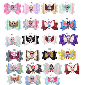 Surprise Doll Bright Flash Gradient Dovetail Children's Kids Hair Clips Baby Hair Accessories