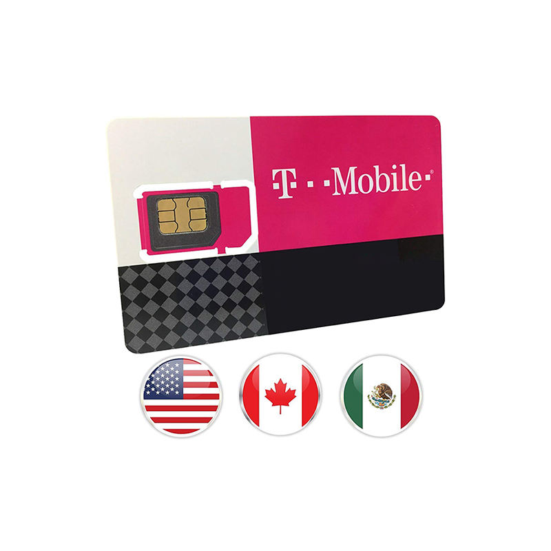 T Mobile Prepaid Travel SIM Card with 30 Days service in USA, Canada and Mexico