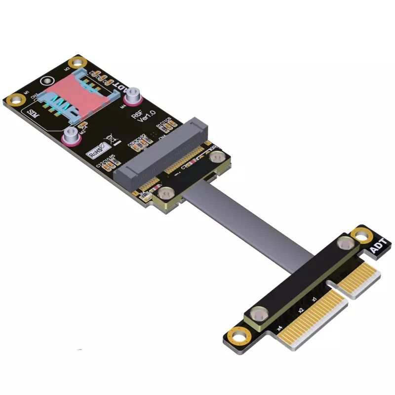 PCI-E x4 כדי miniPCIe הארכת <span class=keywords><strong>כבל</strong></span> מתאם <span class=keywords><strong>כבל</strong></span> gen3 16Gbps PCIe x4 PCIe מיני אלחוטי כרטיס E-P <span class=keywords><strong>Netbook</strong></span> SSD