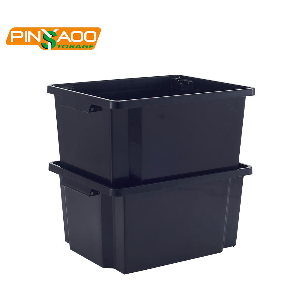 Plastic Crate 25L Widely Used Excellent Rectangle Used Heavy Duty Plastic Storage Crates Box For Sale