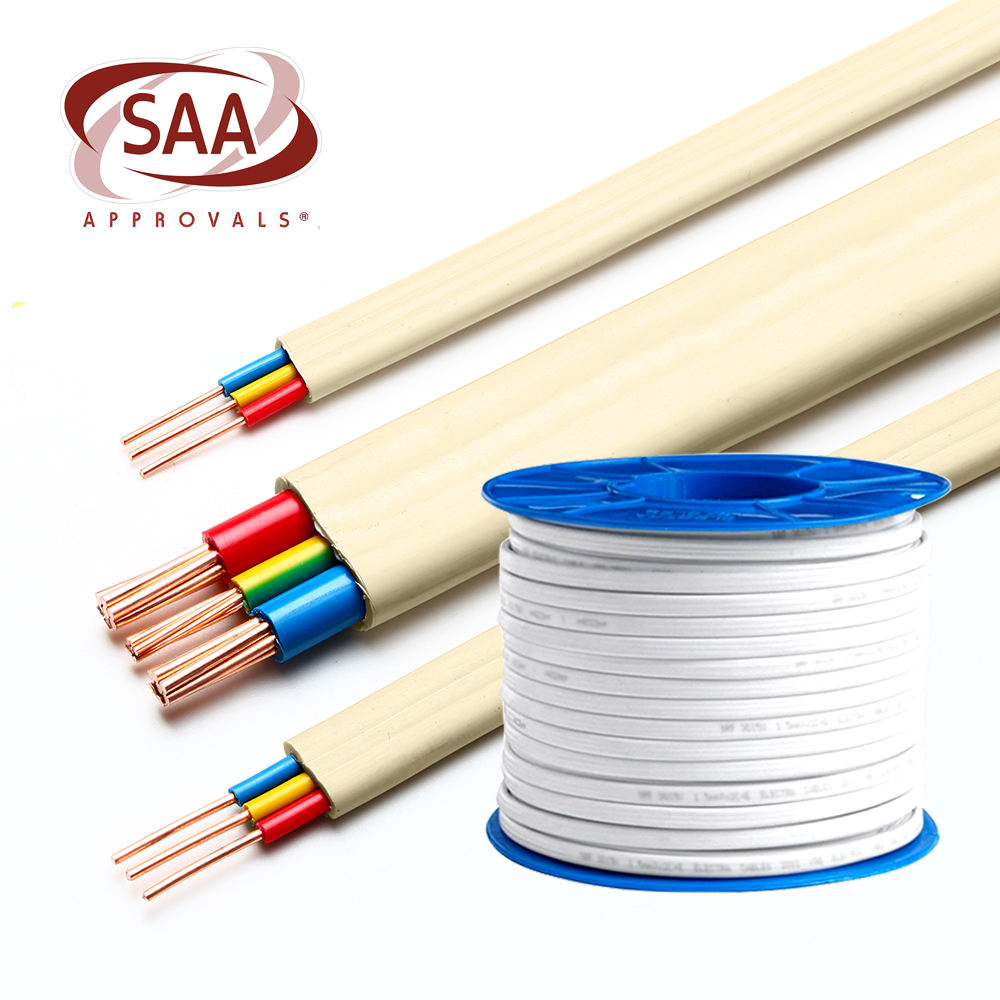 National standard pure copper wire and cable 3 core 1.5mm flat wire
