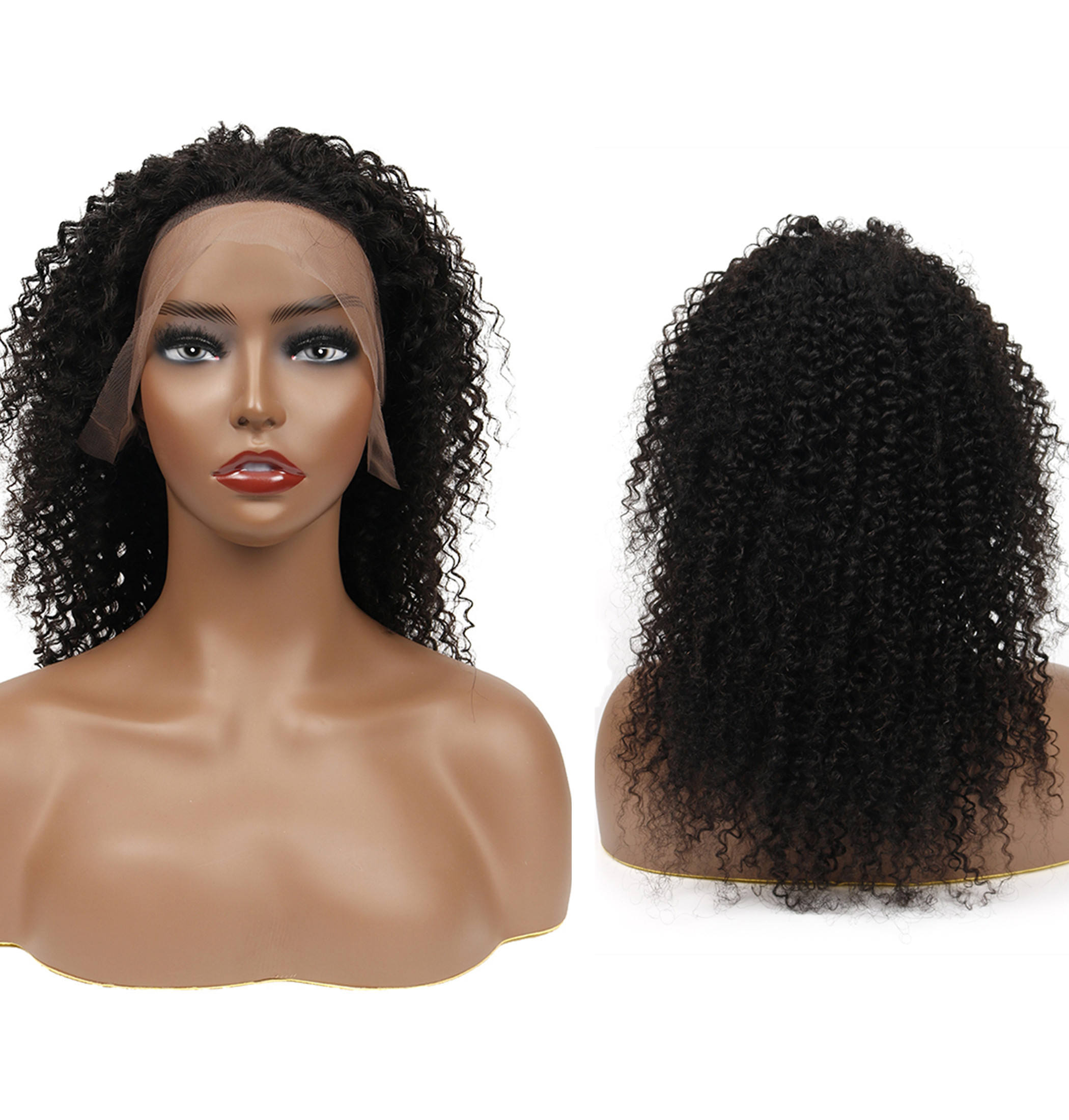 Cuticle Aligned Bulk Virgin Remy Celebrity Free Samples 36 Inch Curly Raw Indian Lacefront Afro Kinky Human Hair Wig