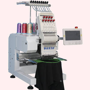 Small Single Head 3d Computerized Embroidery Machine for Clothes and Hats