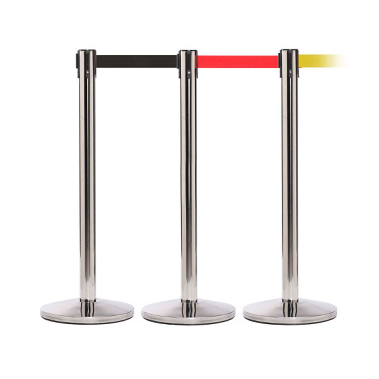 Custom Logo Printing Queue Line Stand Barrier Airport Queue Barrier Pole