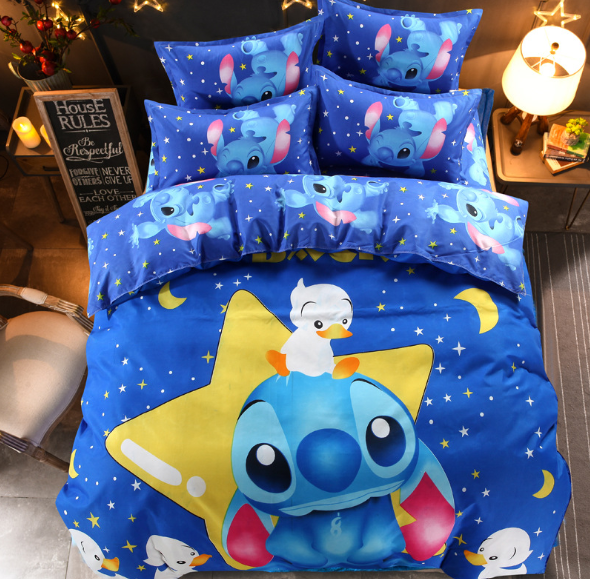 100% microfiber 4pcs kids bedding set cartoon bed linen