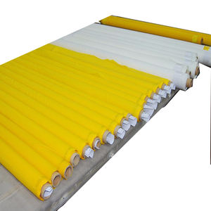 Plain weave 120 `T 300 mesh yellow polyester silk screen print mesh