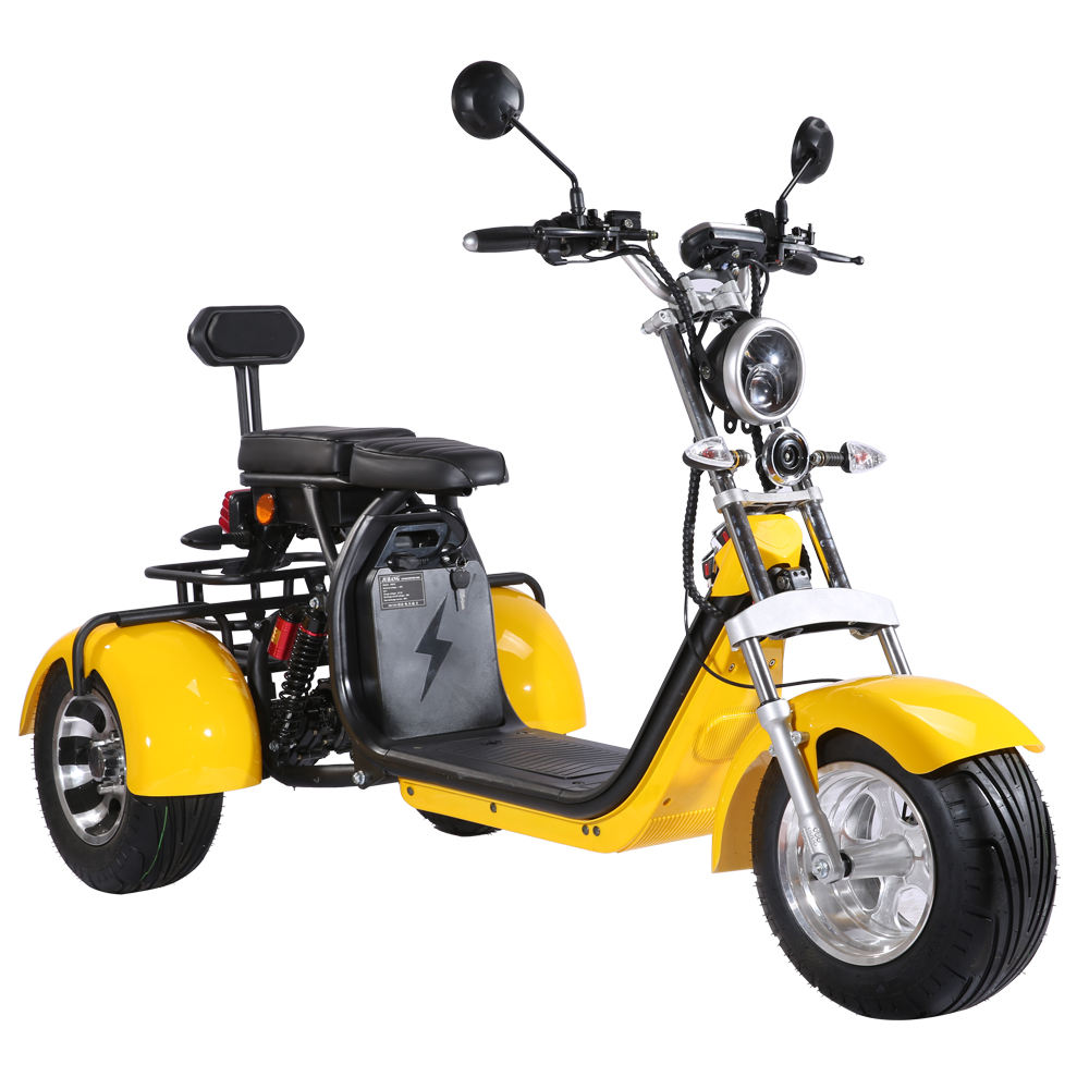customs and taxes included cheap three wheel solar power two seats adult tricycle motorcycle