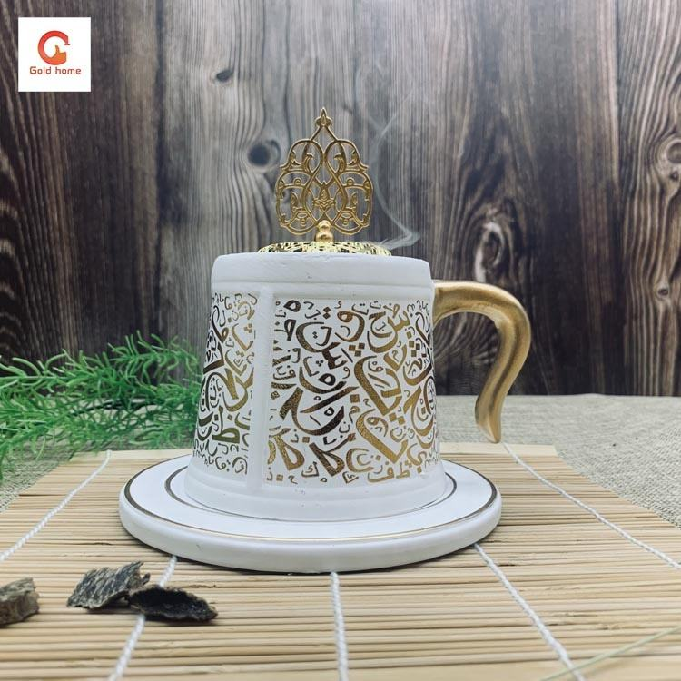 2020 Wholesale New Bakhoor Arabic Ramadan charcoal censer Mug Incense Burner oud burner