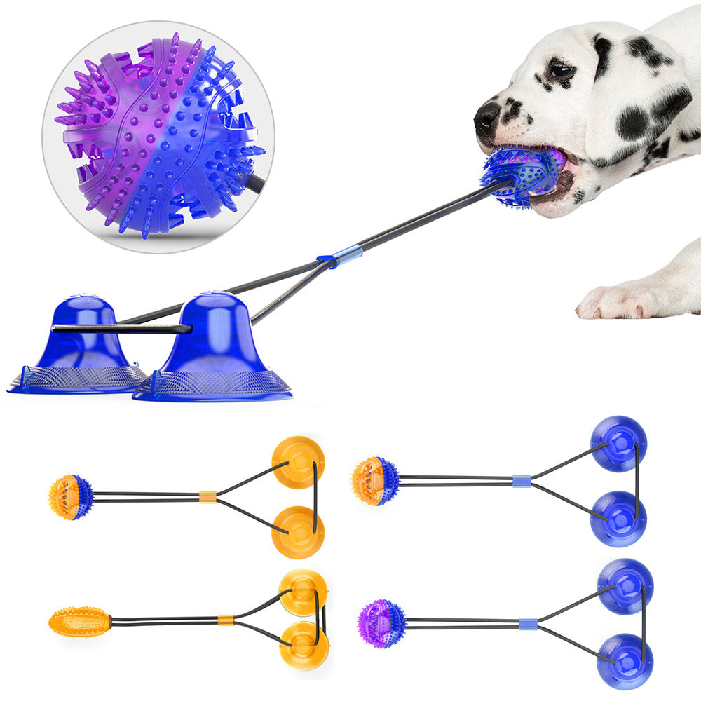 Interactive Pet Rope Ball Pull Toy Fashion Dog Toy Double Suction Cup High Quality Chew Tug Toys For Dogs