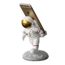Ornament Piece Decoration Home Resin Astronaut Figurine Phone Stand Mobile Cell Phone Holder gift