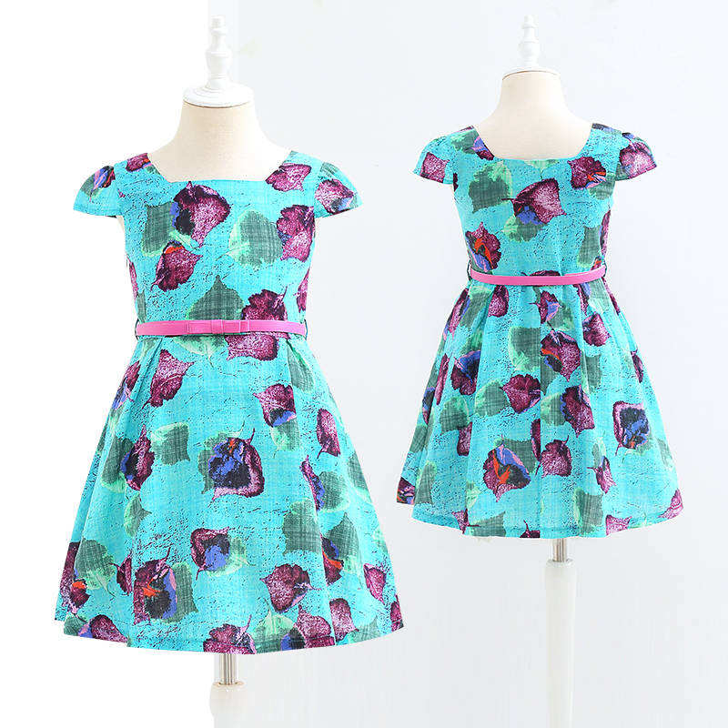 High quality Fashion Pretty Summer kids wear children's garments girls dress Accept Customize
