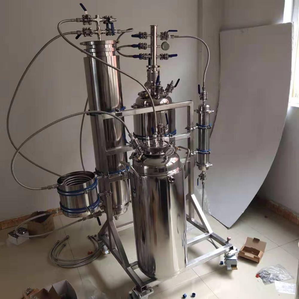 Stainless Steel 10LBS Butane Extractor Machine with 100lbs sovent tank