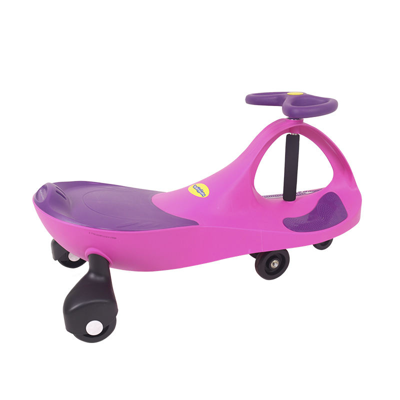 New Model China Kids Baby Slide Car Colorful Cheap Swing Car Ride On Toys With Push Bar