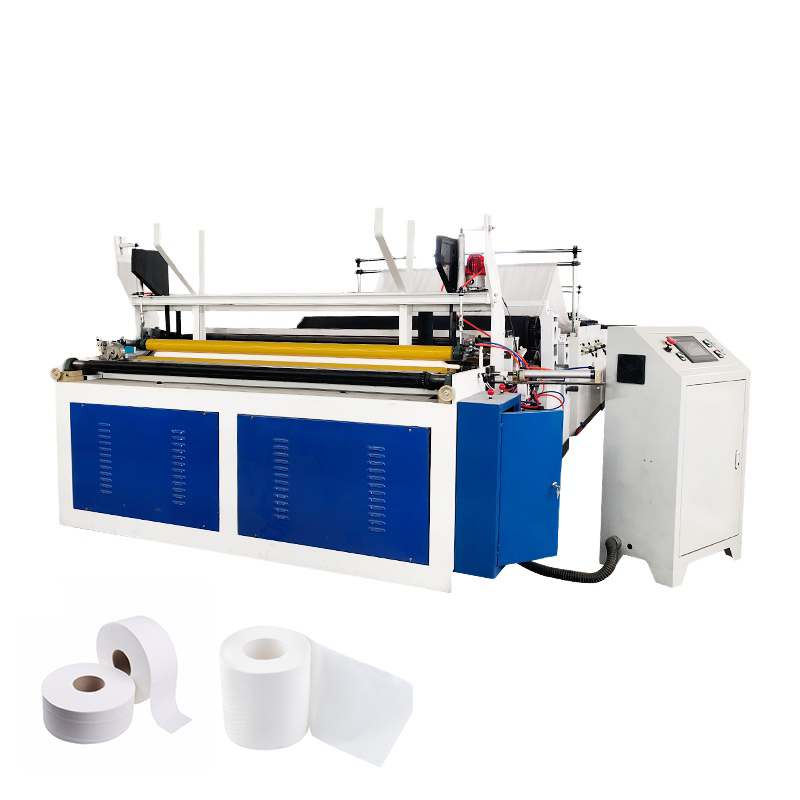 Henan Fuyuan Automatic Perforating Toilet Paper Rewinding Machine Embossed Toilet Tissue Paper Roll Making Machine