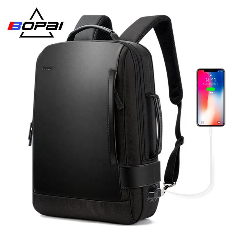 customizable trendy travel business anti theft college backpack charging waterproof fashion laptop backpack expandable for men