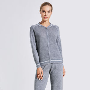 Guoou Knitwear Ladies Merino Wool Sport Sweater Suit For Women