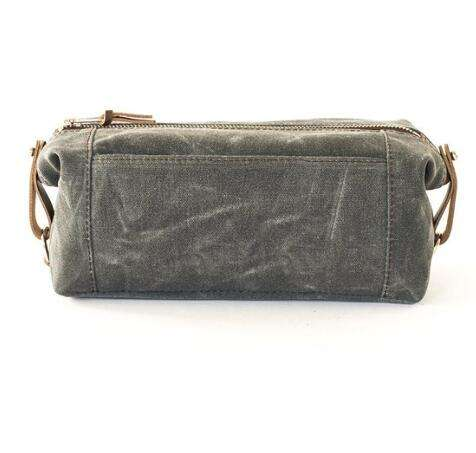 Wholesale custom wash bags men Waxed canvas toiletry pouch cosmetic travel case from china