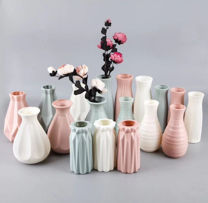 unbreakable new design decor household flower plastic vase