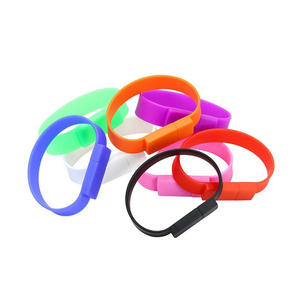 Wholesale factory price silicone wristband memory stick 1gb usb flash drive