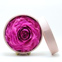 Rose eternal flower original design leather small round gifting box valentine gifts confession birthday  for his girlfriend