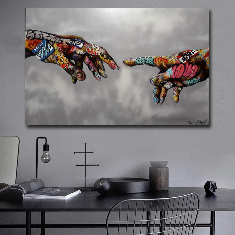Sala de estar Home Decor Imprimir Graffiti Urban Street Art Modern pop art Pinturas cartazes