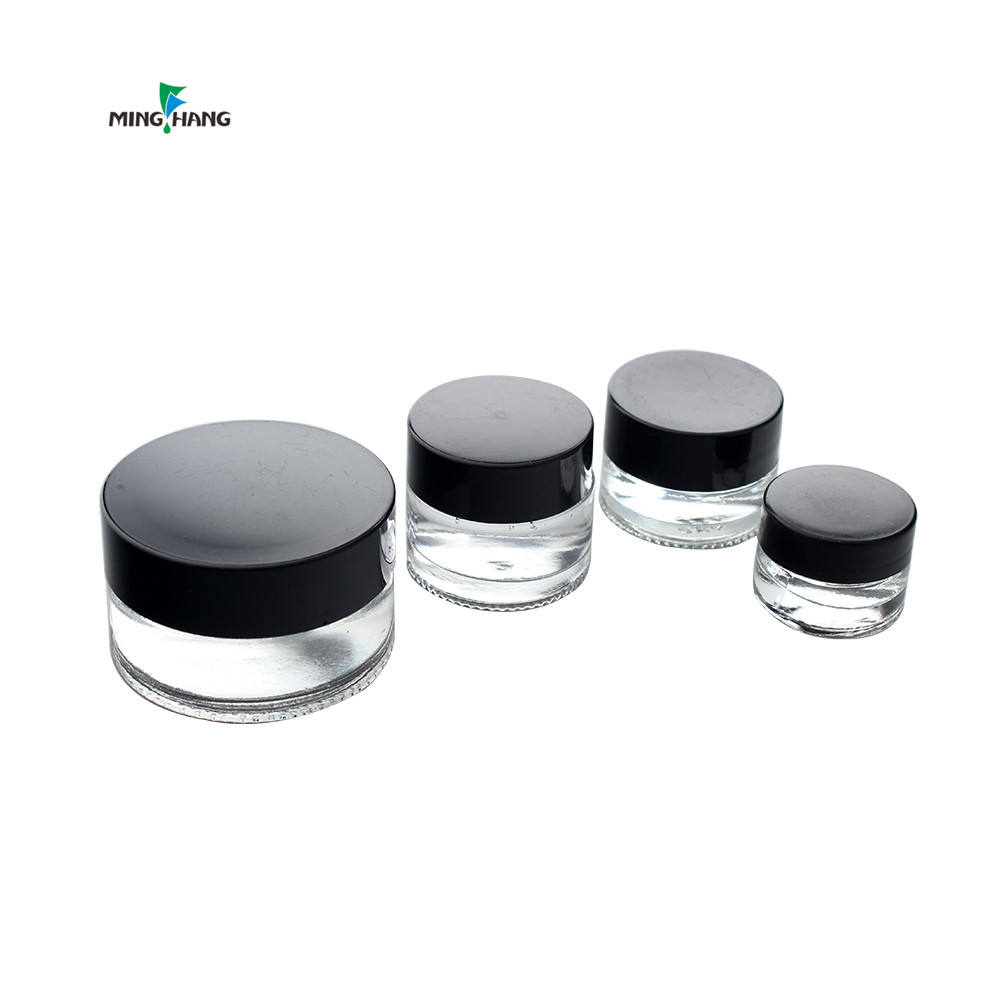 Economy Cosmetic Jar 15 Ml 1オンス2オンス100ミリリットル4オンス150 Ml 8オンス250ミリリットルClear GlassとAluminium Lid Personal Care Eye Cream Screw Cap