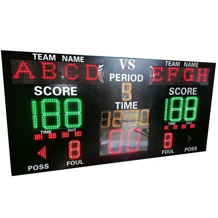 Factory Prices Wall Mounted Electronic Basketball Scoreboard with Shot Clock