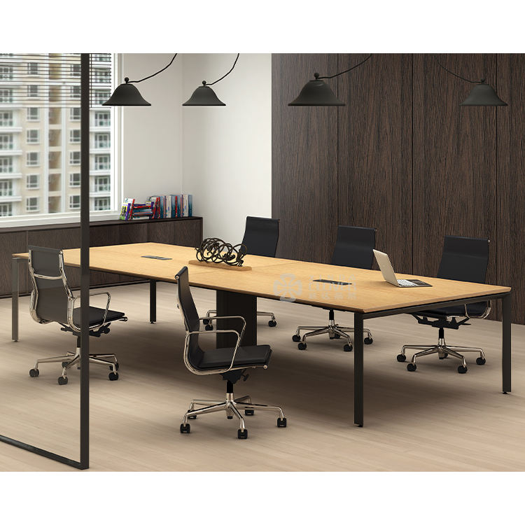 Executive Modern 12 person metal frame conference table