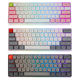 WKM-616 Dual Mode BT 5.1+USB Type-C PBT sublimation color 61 key 16 million colors RGB backlight IP6X mechanical Keyboard