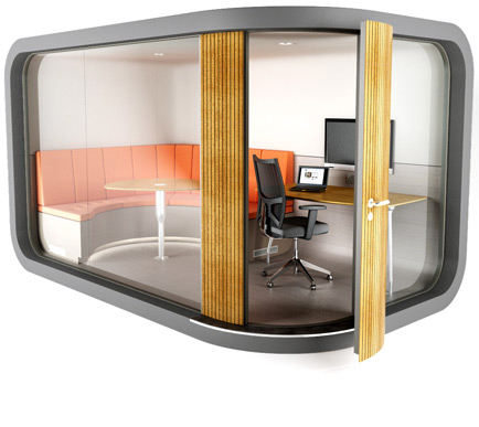 Fast installation soundproof Customized luxury prefab mobile office pod