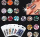 Decorations Nail Nail Decoration 3d Nail Art Perfect Cutting Surface Mix Size Coloyrful Crystal Glass Round 1440pcs New Decorations 3d Nail Arts Rhinestones