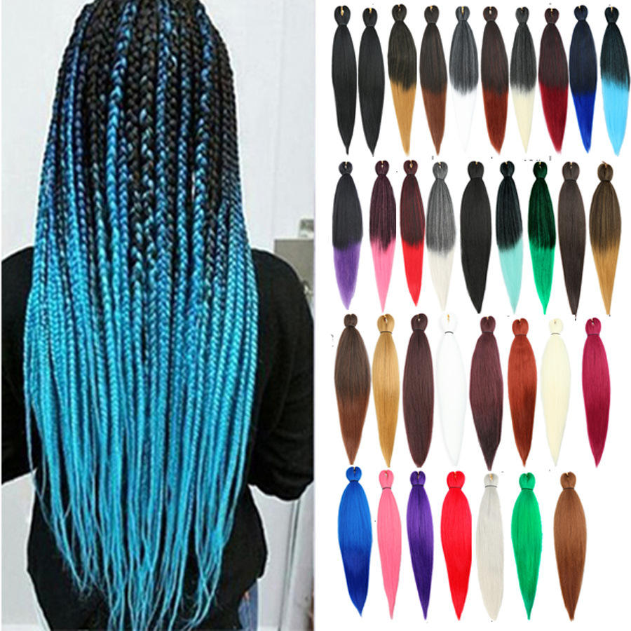 Fiber EZ Braid Different Colors Pre Stretched Braiding Hair Wholesale Cheap Synthetic Layered End Crochet Braid