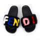 attractive design monster rabbit skin fur slippers product cheap slides
