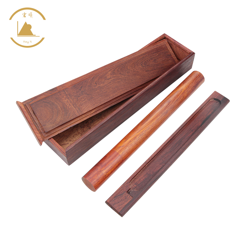 HongShun Factory Direct Wood Incense Burner Rosewood Wooden Incense Holder with Storage Compartment Ash Catcher Hand Carved