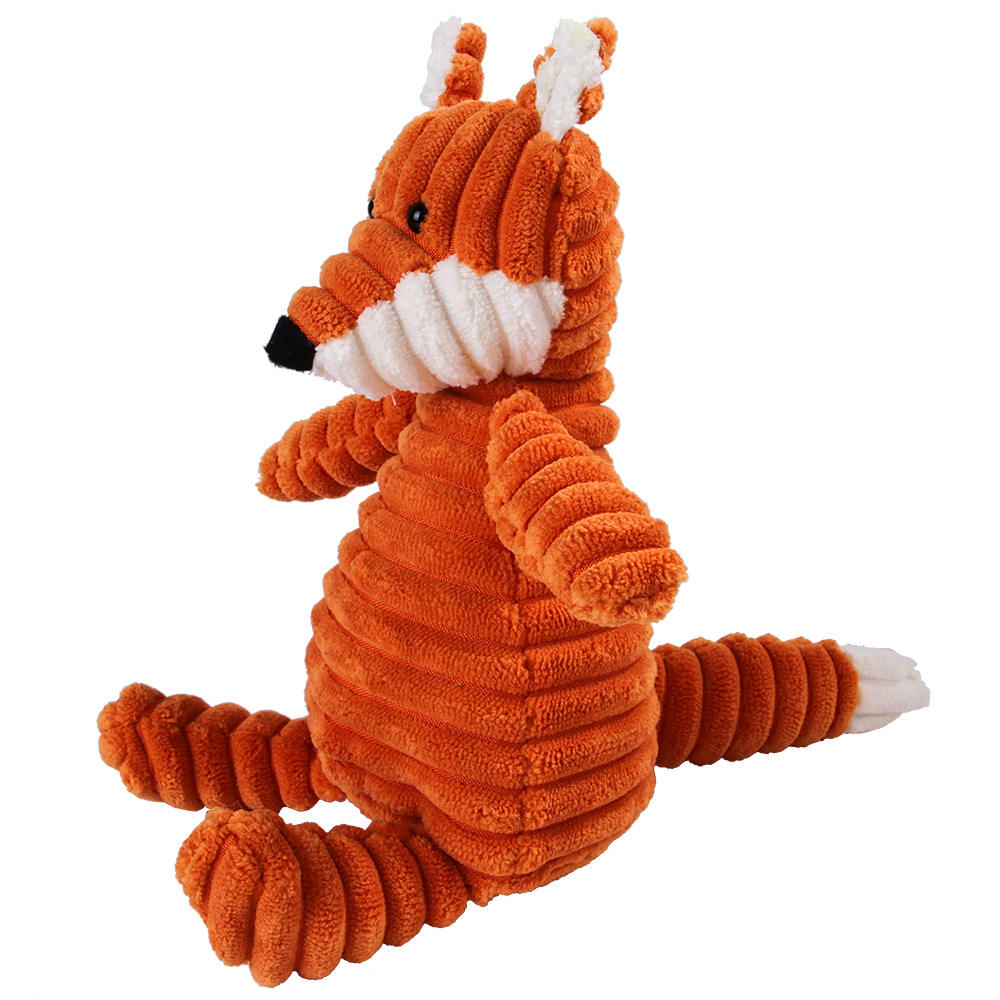 Corduroy Pet Products Dog Plush Toy Squeaky Chew