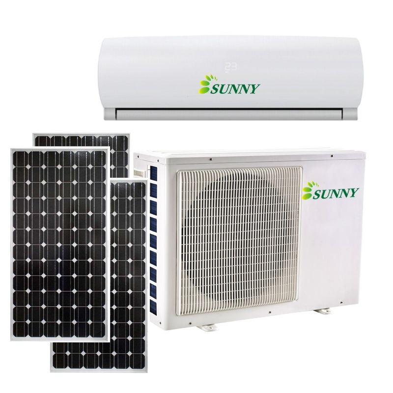 12000BTU 3500watts Good quality tri-zone minisplit 48V DC air conditioner cooling unit solar air conditioning