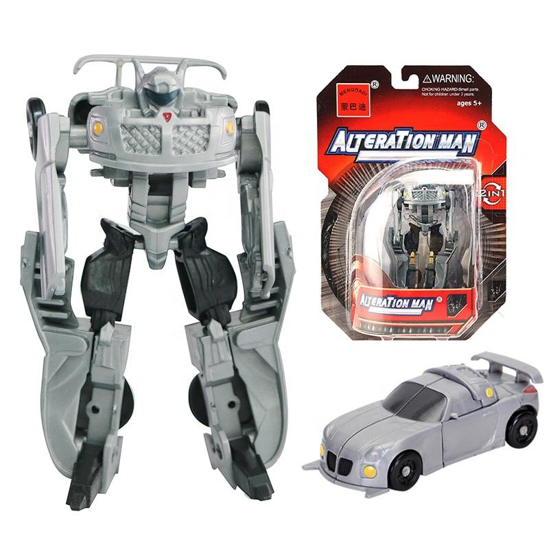 Wijziging Man Plastic Auto Transformeren <span class=keywords><strong>Robot</strong></span> <span class=keywords><strong>Speelgoed</strong></span> Voor Jongens Mini Vervorming Auto Juguetes