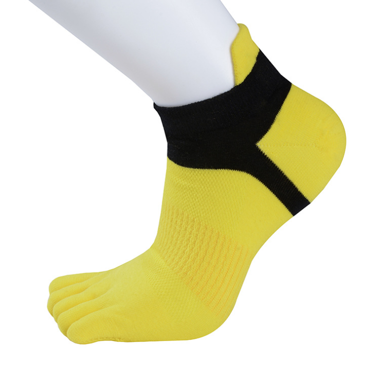 Sports Flexible Five Fingers Protection Solid Color Ankle Riding Boys Toe Socks