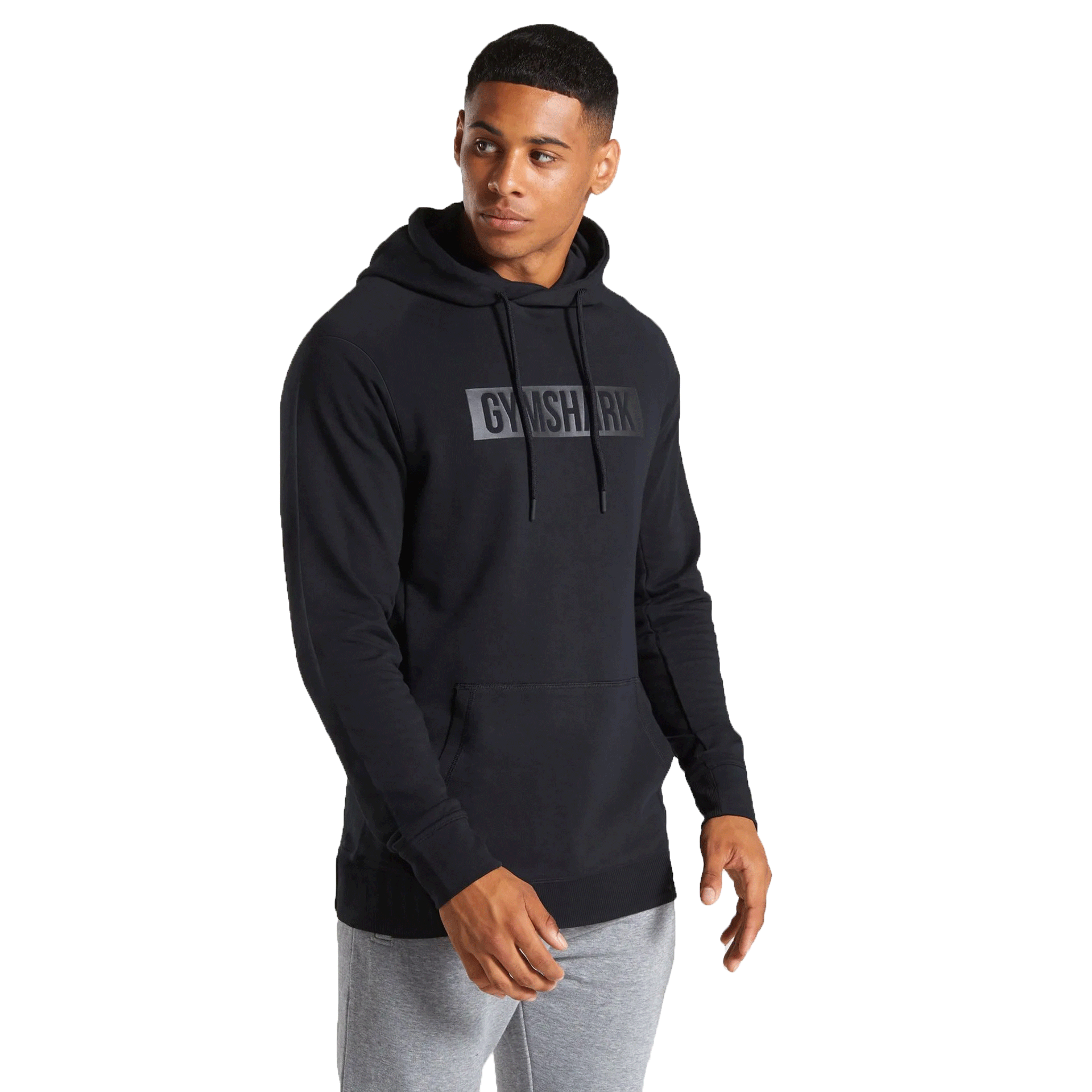 Wholesale Custom Fitness Man Black Pullover Hoodie