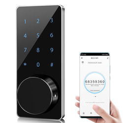 Home Smart Tuya App Wifi Digital Smart Key Pad Electronic Deadbolt Door Lock M7W