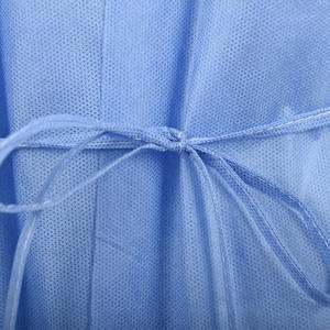 Best Price Disposable Isolation Gown With Back Tie Anti-static Blue SMS Gown For Hospital