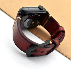 Genuine Leather Replacement Strap Band for apple watch band custom logo