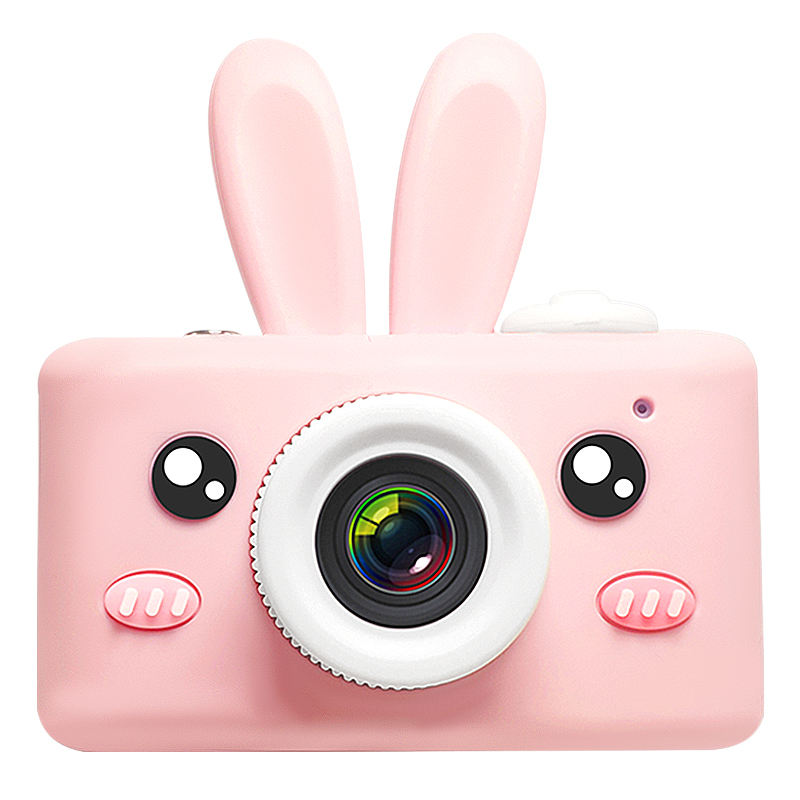 Cute Kids camera Mini Boy Girl toys Hd 1080p 2.0 Inch Animal Rabbit Sticker Record and Photo Birthday for Gift Factory Directly