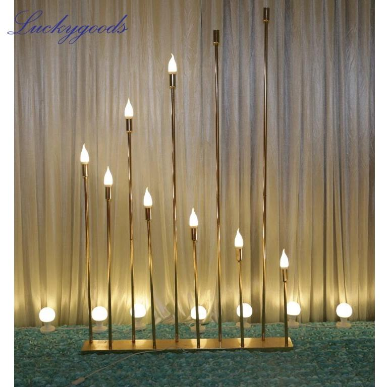 LDJ752 popular selling Luckygoods metal wedding decoration road lead