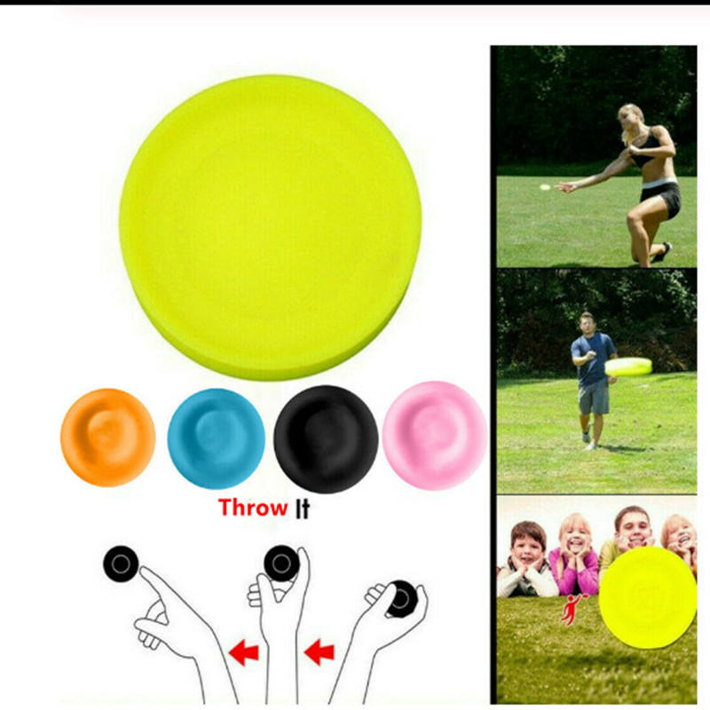 Creative mini fly disk circular silicone disc game parent-child interactive sports outdoor sports flying saucer fingertip toy