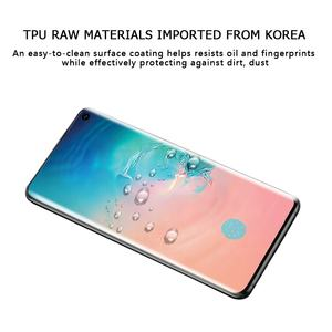 Hottest Anti-microbial Full Coverage Soft Clear 3D Curved Hydrogel Film Screen Protector For Samsung Galaxy S10